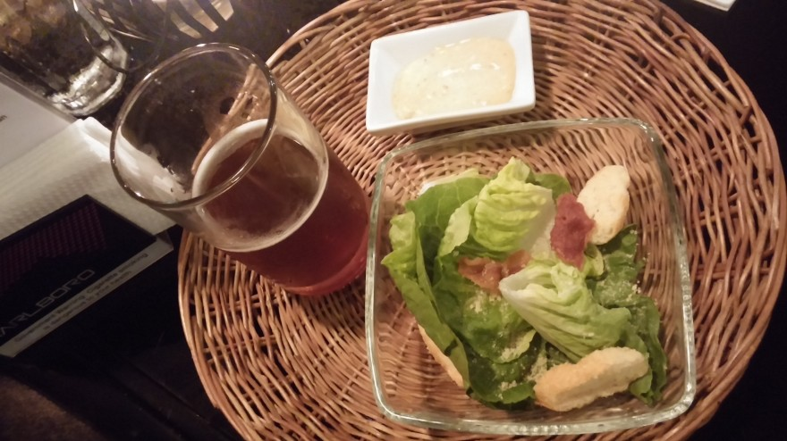 Deconstructed Ceasar's Salad with Smoked Bangus Dressing Paried with Bagpipe Scottish Ale